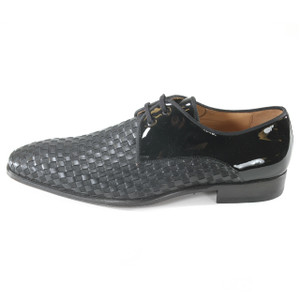 Mezlan Sexto Black Fabric & Leather Blucher Oxfords