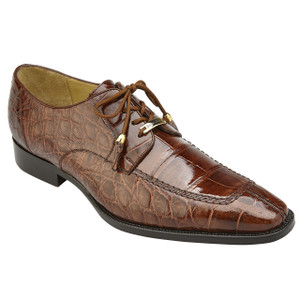 Belvedere Lorenzo Peanut Alligator Split Toe Men's Oxfords