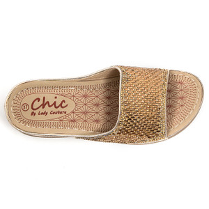 Chic by Lady Couture Fine Gold Sandals