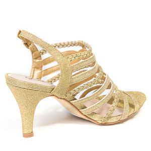 Chic by Lady Couture Gabby Gold Gladiator Heels