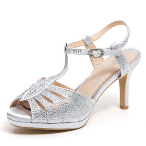 Lady Couture Midnight Silver Heels
