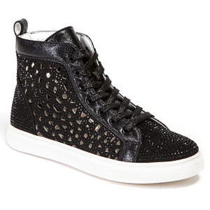 Lady Couture New York Black High-top Sneakers