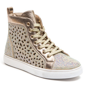 Lady Couture New York Gold High-top Sneakers
