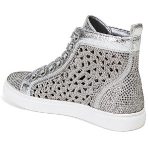 Lady Couture New York Silver High-top Sneakers