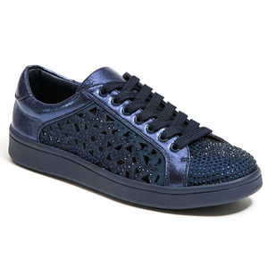 Lady Couture Paris Navy Embellished Sneakers