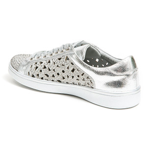 Lady Couture Paris Silver Embellished Sneakers