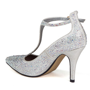 Chic by Lady Couture Party Silver Heels