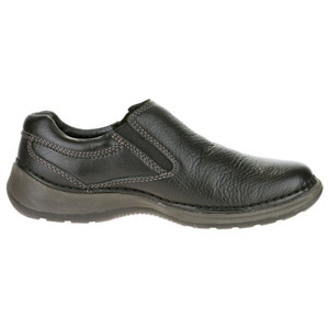 Hush Puppies Lunar II Black Leather Slip-ons