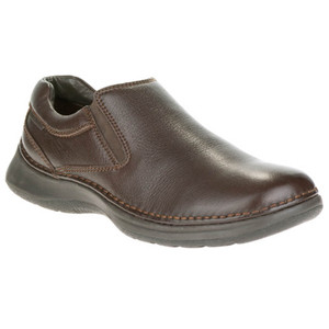Hush Puppies Lunar II Dark Brown Leather Slip-ons