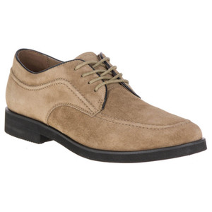 Hush Puppies Bracco Taupe Premium Suede Oxfords