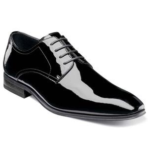 Florsheim Tux Black Leather Plain Toe Oxfords