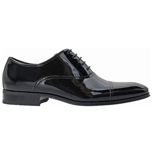 Florsheim Tux Black Leather Cap Toe Oxfords