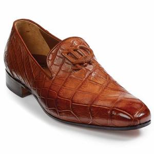 Mauri Vanvitelli Gold Genuine Alligator Slip-ons