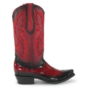 WOMEN LOS ALTOS BLACK GENUINE EEL SNIP TOE WESTERN COWBOY BOOT 340812