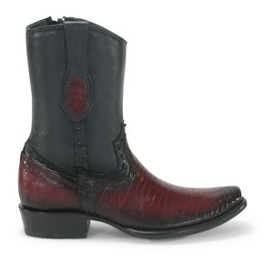 King Exotic Burgundy Teju Lizard Dubai Toe Boots