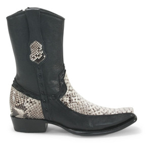 King Exotic Natural Python & Deer Dubai Toe Boots