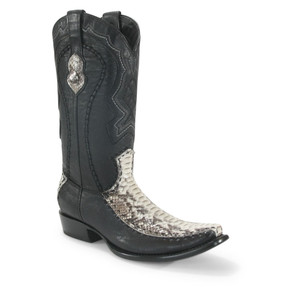 Wild West Natural Python & Deer Dubai Toe Boots