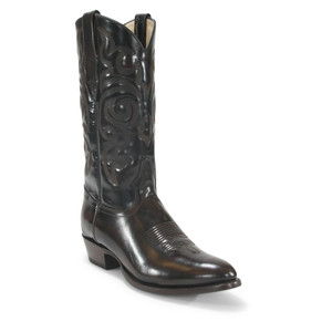 Los Altos Brown Round Toe Glossy Leather Boots