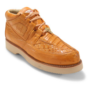 Los Altos Buttercup Caiman Belly & Ostrich Casual Shoes