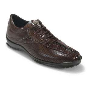 Los Altos Brown Caiman Tail Casual Shoes