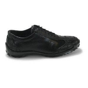 Los Altos Black Ostrich Patch Casual Shoes