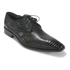 Los Altos Black Genuine Teju Lizard Oxfords