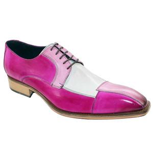 Duca Pink Tri-toned Italian Calfskin Oxfords