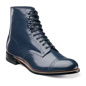 Stacy Adams Madison Navy Leather Ankle Boots