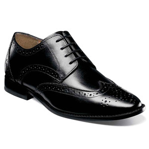 Florsheim Montinaro Black Leather Wingtip Oxfords