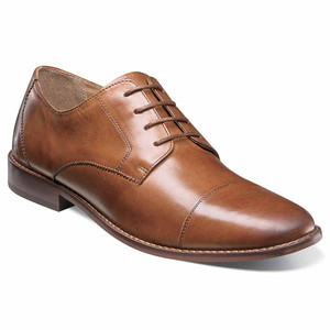 Florsheim Montinaro Saddle Tan Leather Cap-toe Oxfords