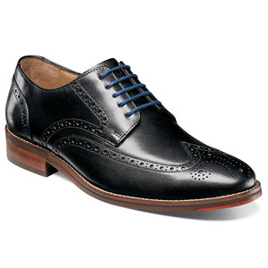 Florsheim Salerno Black Leather Wingtip Oxfords