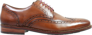 Florsheim Salerno Cognac Leather Wingtip Oxfords