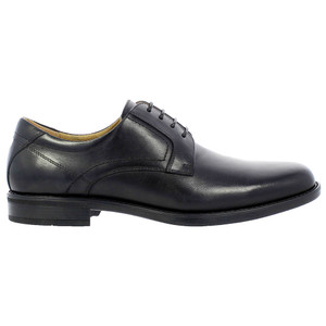 Florsheim Midtown Black Leather Plain Toe Oxfords