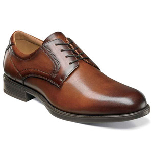 Florsheim Midtown Cognac Leather Plain Toe Oxfords