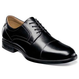 Florsheim Midtown Black Leather Cap Toe Oxfords