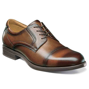Florsheim Midtown Cognac Leather Cap Toe Oxfords