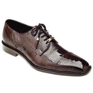 Belvedere Batta in Chocolate Genuine Ostrich Oxford