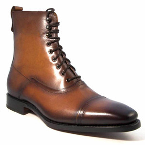 Ugo Vasare Brady Caramel Leather Lace-Up Boot