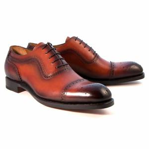 Ugo Vasare Gaelic Camel Leather Cap Toe Oxford Shoes