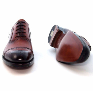 Ugo Vasare Gaelic Camel Leather Cap Toe Oxford Shoes