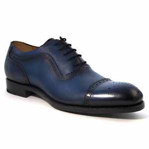 Ugo Vasare Gaelic Navy Leather Cap Toe Oxford Shoes