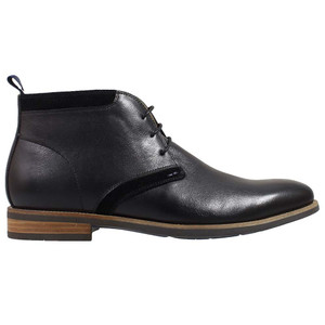 Florsheim Heeled Plain Toe Chukka Black Boot