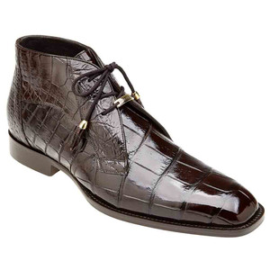 Belvedere Stefano Chocolate Genuine Alligator Men's Ankle Boot
