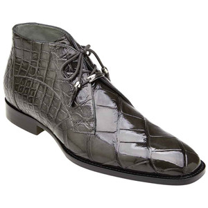 Belvedere Stefano Gray Genuine Alligator Men's Ankle Boot