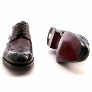 Ugo Vasare Burnished Burgundy Calfskin Wingtip Brogue