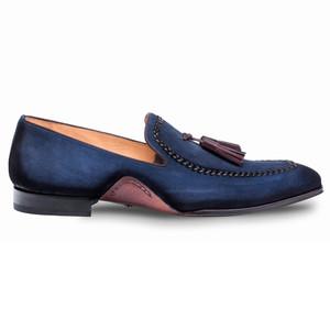 Mezlan Plazza Blue Suede Mens Dress Shoes