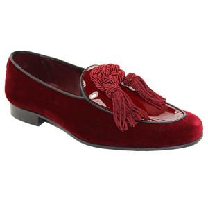 Duca Venezia Burgandy Leather Dress Shoes for Men