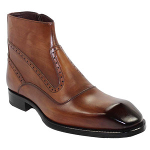 Emilio Franco Davide Brandy Leather Ankle Boots