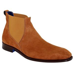 Emilio Franco Leonardo Cognac Suede Ankle Boots