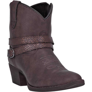 Dingo Aydra Women Chocolate Manmade Leather Booties
